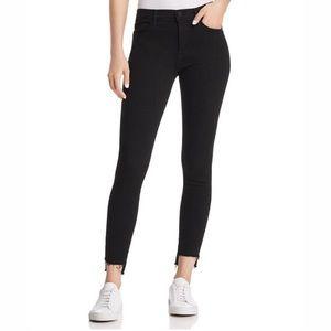 Frame Black Le Skinny De Jeanne Step Raw Hem Jeans